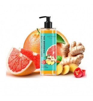 Letique Anti-Cellulite Massage Oil Greipfrutų, imbiero ir atriųjų paprikų anticeliulitinis aliejus, 200ml   inbeauty.lt