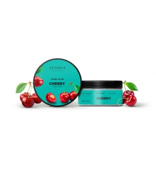 Letique Cherry Body Scrub Vyšnių aromato kūno šveitiklis, 250g | inbeauty.lt