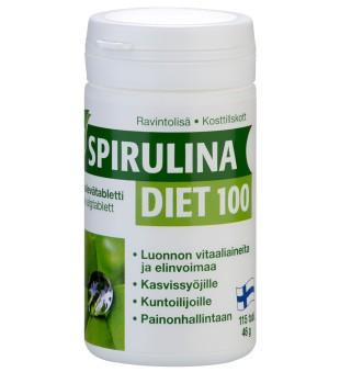 Hankintatukku Spirulina Diet 100, 115 tab. | inbeauty.lt