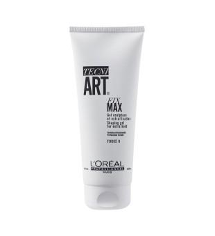 L'oreal Professionnel Fix Max Gel Ypatingai stiprios fiksacijos formuojamoji plaukų želė, 200ml   inbeauty.lt