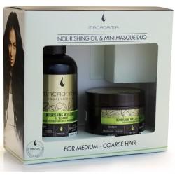Maitinamųjų, drėkinamųjų priemonių rinkinys Macadamia Moisture Oil Treatment & Masque Duo
