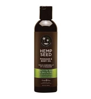 Hemp Seed Naked In The Woods Massage Body Oil Masažinis kūno aliejus, 237 ml | inbeauty.lt