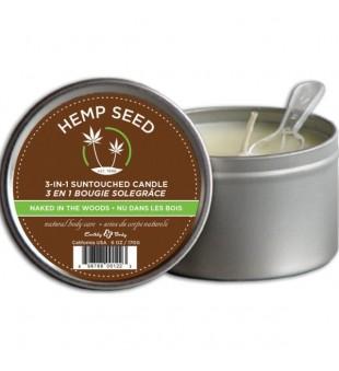 Hemp Seed Naked In The Woods Massage Candle Masažinė kūno žvakė, 170 g | inbeauty.lt