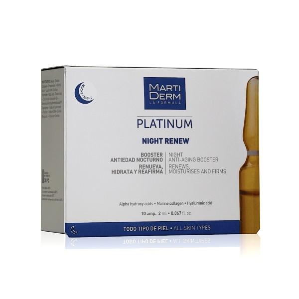 NIGHT RENEW Atkuriamosios naktinės veido ampulės, 10vnt.