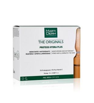 MartiDerm PROTEOS HYDRA PLUS Drėkinamosios veido ampulės su vitaminu C, 10vnt. | inbeauty.lt