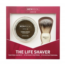 The Life Shaver Kit Santalmedžio aromato skutimosi rinkinys, 1 vnt.