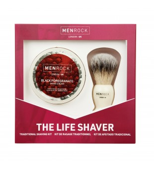Menrock The Life Shaver Kit Granatų aromato skutimosi rinkinys, 1 vnt. | inbeauty.lt