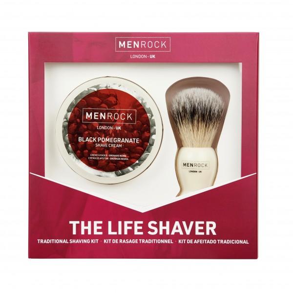 The Life Shaver Kit Granatų aromato skutimosi rinkinys, 1 vnt.