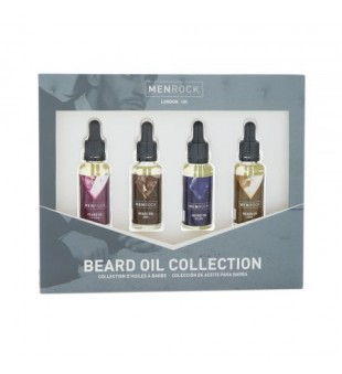 Menrock Beard Oil Collection Barzdos aliejų rinkinys, 4x30 ml | inbeauty.lt