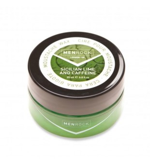Menrock Sicilian Lime And Caffeine Moustache Wax Pabudinantis ūsų vaškas, 25ml | inbeauty.lt