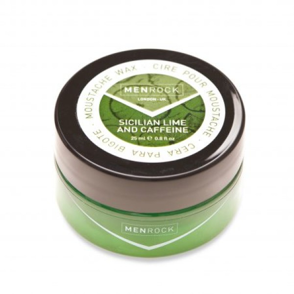 Sicilian Lime And Caffeine Moustache Wax Pabudinantis ūsų vaškas, 25ml