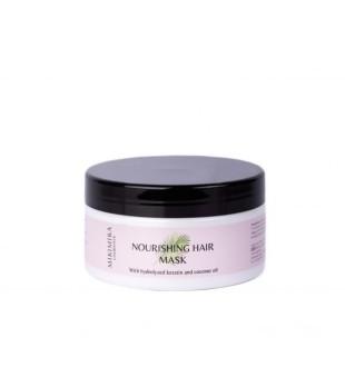 Mikimira Cosmetics Nourishing Hair Mask Maitinanti plaukų kaukė su keratinu ir kokosų aliejumi, 200ml | inbeauty.lt
