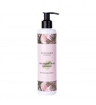 Mikimira Cosmetics Nourishing Hair Shampoo Maitinantis plaukų šampūnas su glicerinu ir kokosu, 250ml | inbeauty.lt