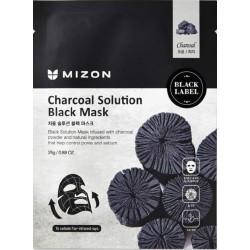 Charcoal Solution Black Mask Veido kaukė su medžio anglimi, 25g