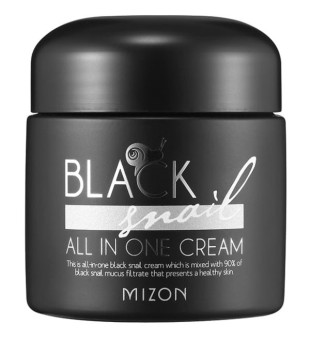 Mizon Black Snail All In One Cream Daugiafunkcinis veido kremas su juodųjų sraigių filtratu, 75 ml | inbeauty.lt