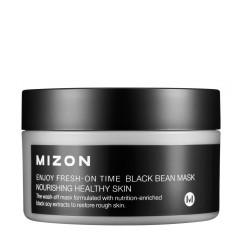 Enjoy Fresh-On Time Black Bean Mask Maitinamoji veido kaukė su juodosiomis pupelėmis, 100 ml