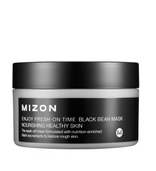 Mizon Enjoy Fresh-On Time Black Bean Mask Maitinamoji veido kaukė su juodosiomis pupelėmis, 100 ml | inbeauty.lt