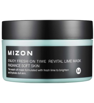 Mizon Enjoy Fresh-On Time Revital Lime Mask Gaivinanti veido kaukė su žaliosiomis citrinomis, 100 ml | inbeauty.lt