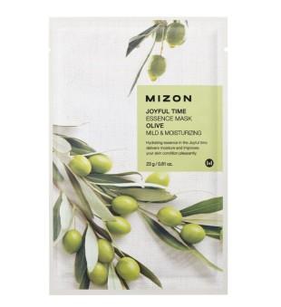 Mizon Joyful Time Essence Mask Olive Veido kaukė su alyvuogėmis, 23g | inbeauty.lt