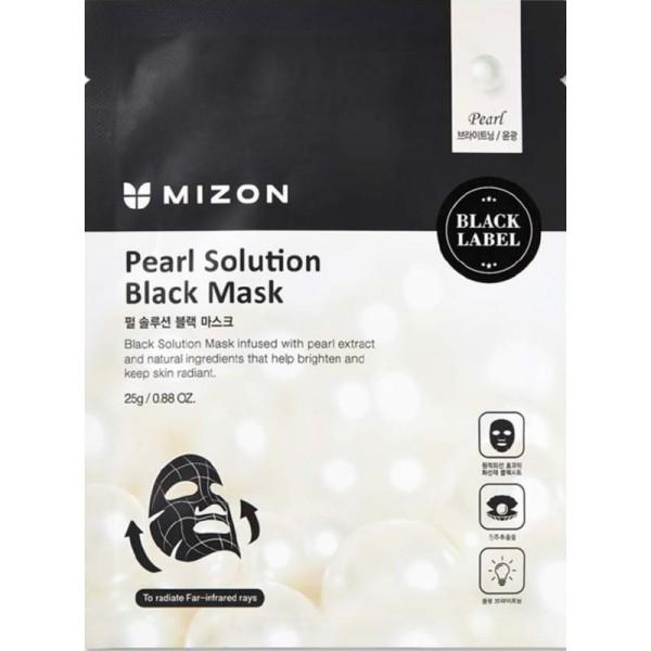 Pearl Solution Black Mask Veido kaukė su perlais, 25g