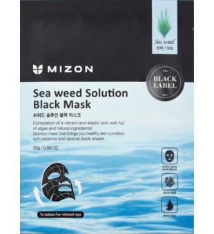 Mizon Sea Weed Solution Black Mask Veido kaukė su jūros dumbliais, 25g | inbeauty.lt