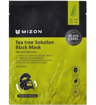 Mizon Tea Tree Solution Black Mask Veido kaukė su arbatmedžiu, 25g   inbeauty.lt