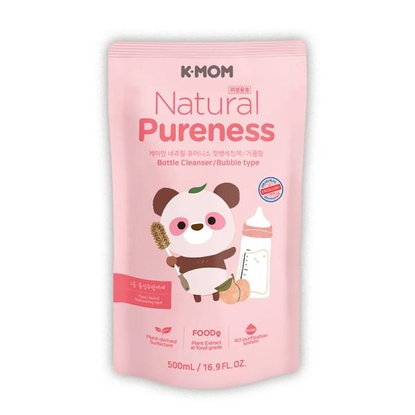 K-MOM Natural Pureness Feeding Bottle Cleanser Maitinimo buteliukų, vaisių ir daržovių ploviklio papildymas, 500ml