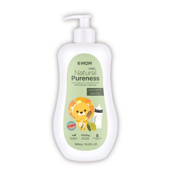K-MOM Natural Pureness Bottle Cleanser Maitinimo buteliukų, vaisių ir daržovių ploviklis, 500ml