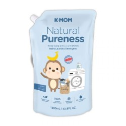 K-MOM Natural Pureness Baby Laundry Detergent Hipoalerginio skalbiklio papildymas, 1300ml