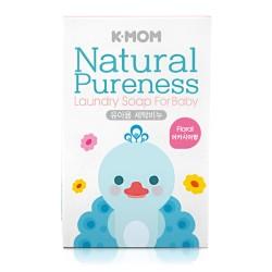 K-MOM Natural Pureness Laundry Soap Natūralus muilas skalbinių plovimui (gėlių kvapo), 1vnt