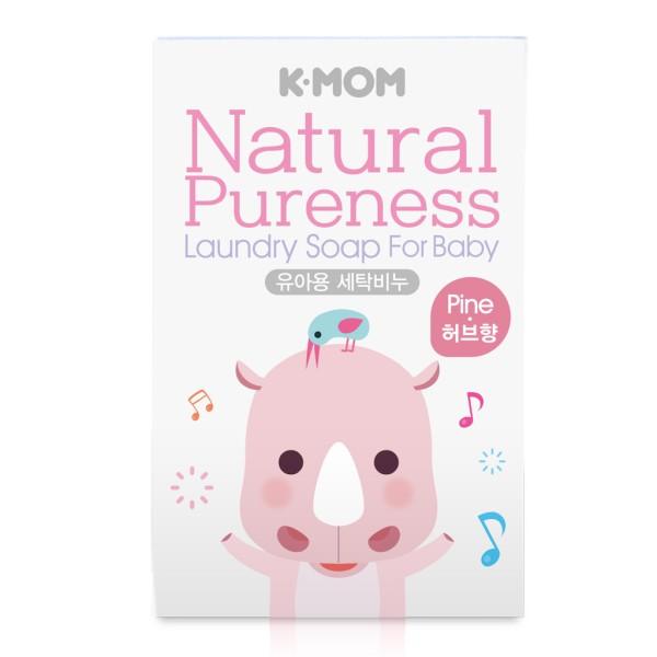 K-MOM Natural Pureness Laundry Soap Natūralus muilas skalbinių plovimui (pušies kvapo), 1vnt