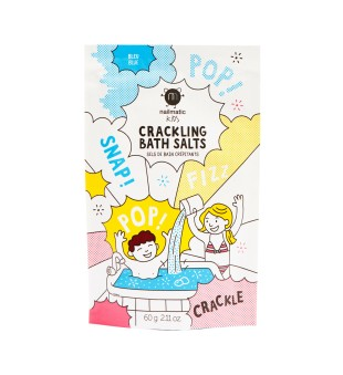 Nailmatic KIDS Blue Crackling Bath Salts Spragsinti vonios druska, 60g | inbeauty.lt