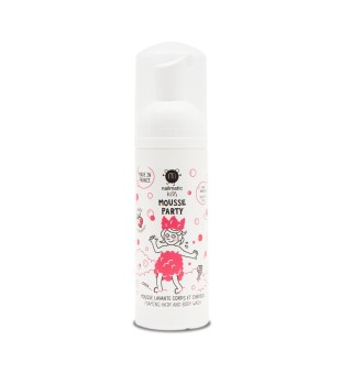 Nailmatic KIDS STRAWBERRY Mousse Party Foaming Hair & Body Wash Vonios putos, 150ml | inbeauty.lt