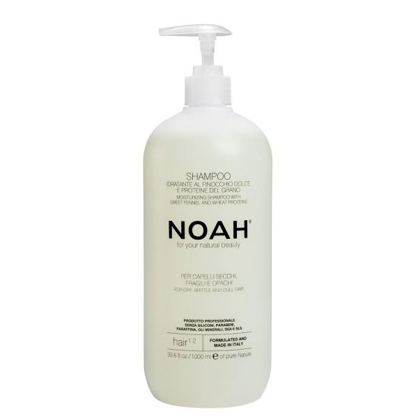 1.2. Moisturizing Shampoo With Sweet Fennel And Wheat Protein Šampūnas sausiems ir lūžinėjantiems plaukams, 1000 ml