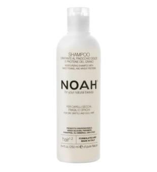 Noah 1.2. Moisturizing Shampoo With Sweet Fennel And Wheat Protein Šampūnas sausiems ir lūžinėjantiems plaukams, 250 ml  | inbeauty.lt