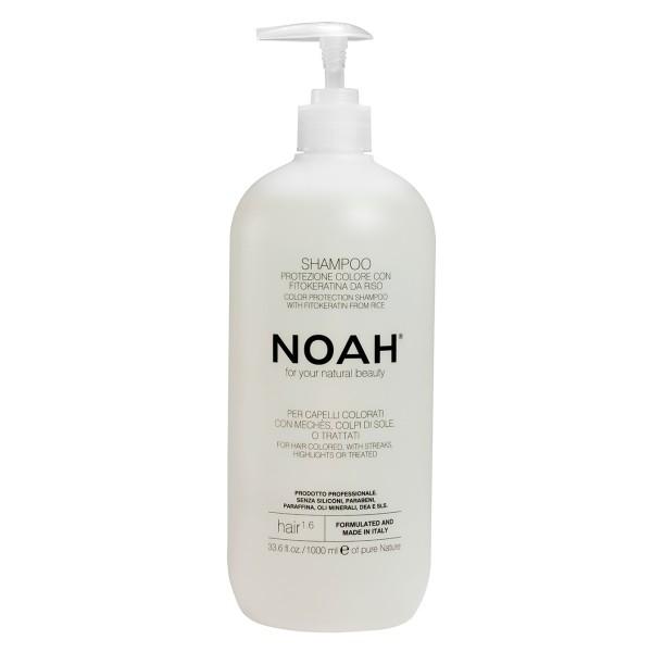 1.6. Color Protection Shampoo With Fitokeratine From Rice Šampūnas dažytiems ir sruogelėmis dažytiems plaukams, 1000 ml
