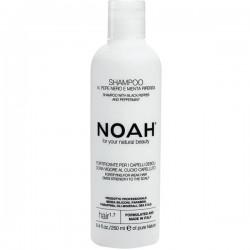 1.7. Shampoo With Black Peper And Pepermint Plaukus stiprinantis šampūnas silpniems, slenkantiems plaukams, 250 ml