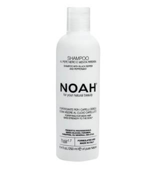 Noah 1.7. Shampoo With Black Peper And Pepermint Plaukus stiprinantis šampūnas silpniems, slenkantiems plaukams, 250 ml | inbeauty.lt
