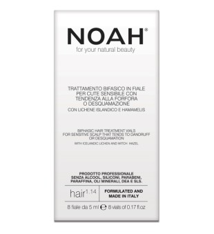 Noah 1.14 Biphasic Hair Treatment Vials Serumas jautriai, linkusiai pleiskanoti odai 8x5ml | inbeauty.lt