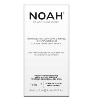 Noah 1.15 Fortifying Treatment Vials Serumas silpniems plaukams 8x5ml | inbeauty.lt