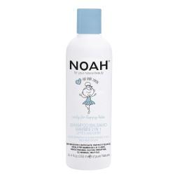 Kids 2in1 Shampoo & Conditioner Šampūnas ir kondicionierius su pienu ir cukrumi vaikams, 250ml