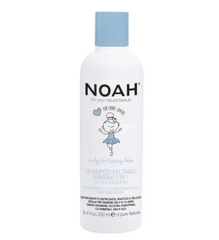 Noah Kids 2in1 Shampoo & Conditioner Šampūnas ir kondicionierius su pienu ir cukrumi vaikams, 250ml | inbeauty.lt
