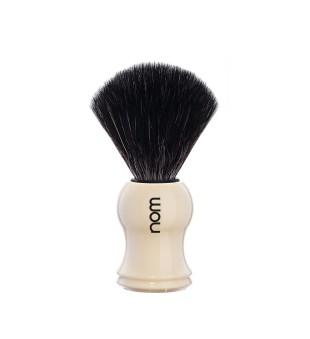 Nom Black Fiber Shaving Brush Skutimosi šepetėlis GUSTAV 21 CR, 1vnt. | inbeauty.lt