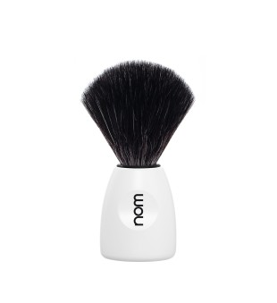 Nom Black Fibre Shaving Brush Skutimosi šepetėlis LASSE 21 WH, 1vnt. | inbeauty.lt