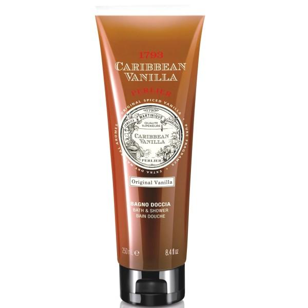 Caribbean Vanilla Bath & Shower Gel Kūno prausiklis su vanile, 250ml