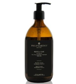 Philip Martin's Olive And Aloe Anti-Aging Treatment Aliejus plaukams ir kūnui su alavijais, 500 ml  | inbeauty.lt