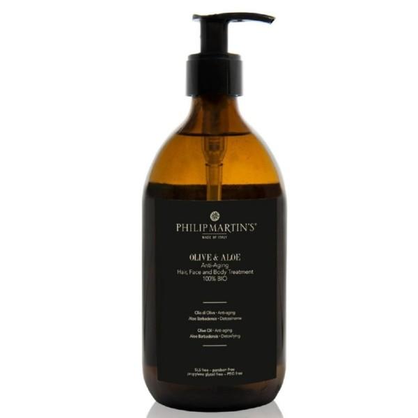 Olive And Aloe Anti-Aging Treatment Aliejus plaukams ir kūnui su alavijais, 500 ml
