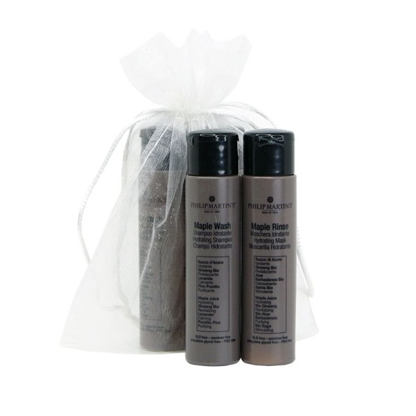 Mini Maple Kit Plaukų priežiūros priemonių rinkinys, 2×30 ml