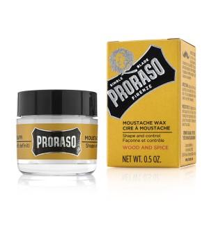 Proraso Wood & Spice Moustache Wax Ūsų vaškas, 15ml | inbeauty.lt