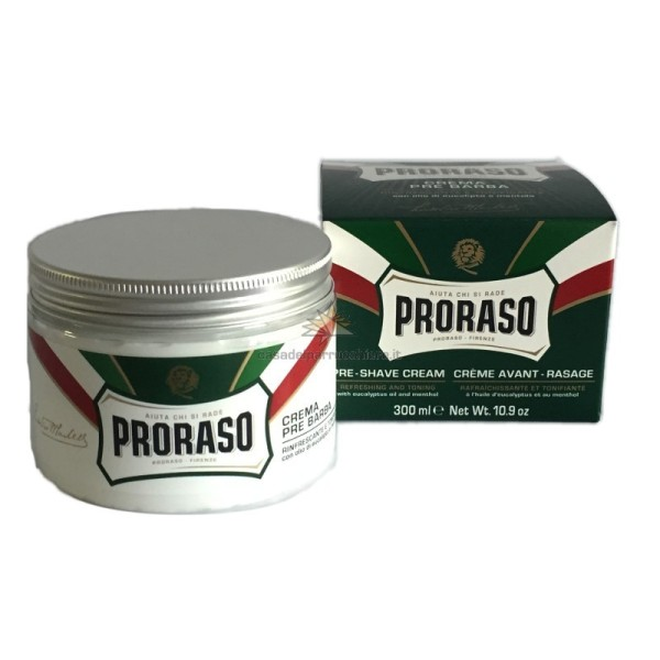 Green Line Pre-Shave Cream Gaivinantis kremas prieš skutimąsi su eukaliptu, 300 ml